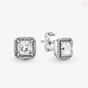 🌟Brand New🌟 Pandora Sparkle Square Halo Earring